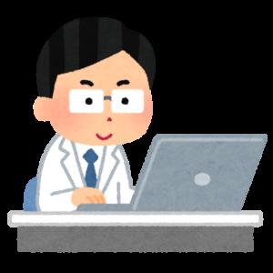 ノートパソコンとドクター
